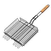 Решетка для гриля и барбекю с антипригарным покрытием 25х30 см (глубокая) Maestro MR-1002