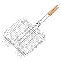 Решетка для гриля и барбекю из нержавеющей стали 25х30 см (глубокая) Maestro MR-1004