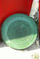 Люк канализационный полимерпесчаный легкий зеленый до 2 тонн