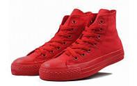 Детские высокие кеды Converse Chuck Taylor All Star (конверс, конверсы оригинал) красные
