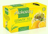 """Чай """"Alokozay """" зеленый с лимоном 25 пак."""