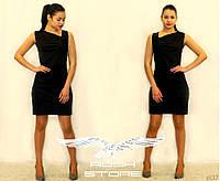 Офисное платье с драпирровкой