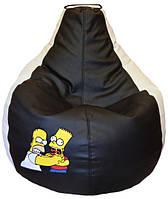 Бескаркасное мягкое Кресло-мешок пуфик для подростков СИМПСОНЫ