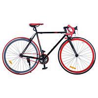 """Велосипед PROFI FIX 28"""" G54JOLLY S700C-2H, черно-красный"""