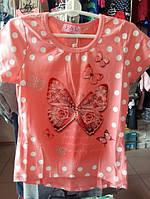 Детская футболка для девочки ,  р.4-12 лет