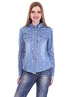 Джинсовая женская рубашка.