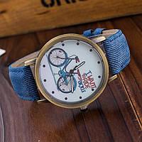 Крутые женские ретро часы с велосипедом Есть разные цвета