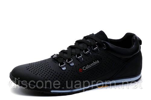 Туфли мужские Columbia, спортивные, черные, кожа