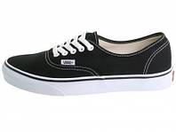 Мужские кеды Vans (ванс, вансы) черно-белые