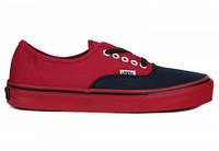 Мужские кеды Vans (ванс, вансы) черно-красные
