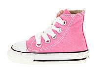 Детские высокие кеды Converse Chuck Taylor All Star, детские кеды конверс розовые