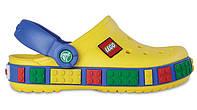 Детские кроксы Crocs Lego желтые