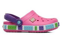 Детские кроксы Crocs Lego розовые