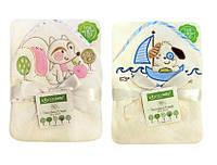 Детское полотенце с уголком после купания (2 вида), 100х100см, BoboBaby