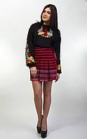 Вышиванка женская с разноцветными маками, на длинный рукав