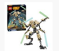 Конструктор Ksz 714 Звездные Войны аналог LEGO Star Wars Генерал Гривус 183 детали