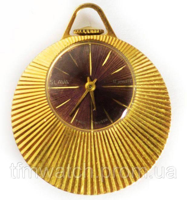 Женские механические часы-кулон СССР Слава
