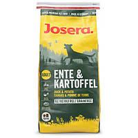 Josera Ente & Kartoffel с уткой и картофелем, без злаков для взрослых собак всех пород - 15 кг