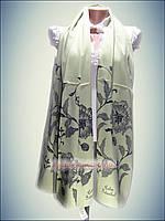 Шелковый шарф Eda exclusive, мятный (100% rayon) принт 2016 Турция
