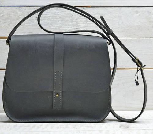 Повседневная женская сумка из натуральной кожи GBAGS B.0001-CH серый
