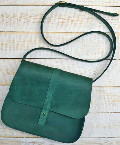 Неотразимая женская сумка из натуральной кожи GBAGS B.0001-ALI изумрудный