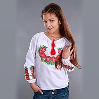 """Детская вышиванка  для девочки """"Букет Роз"""""""