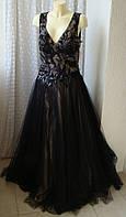 Платье женское черное шикарное вечернее выпускное концертное Luxuar Limited р.50 6464