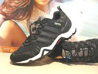 Кроссовки Adidas terrex (адидас) черно-коричневые 41 р.