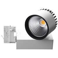 Трехфазные трековые светильники led Brille LED-401/34W COB WH (L105-012) теплый свет