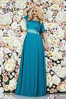 Женское вечернее платье Афина\ бирюзовое