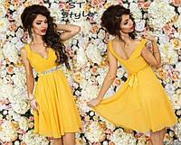 Женское вечернее платье Венера \ желтое