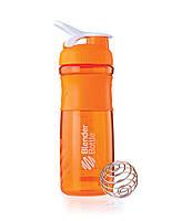 Спортивный шейкер BLENDERBOTTLE бутылка для воды с носиком Оранжевая