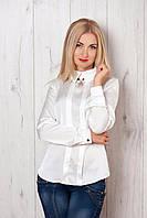 Блуза прямого кроя с длинным рукавом