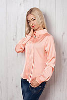 Шикарная персиковая блуза