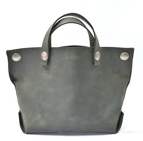 Практичная женская сумка-мешок из натуральной кожи GBAGS B.0004 серый