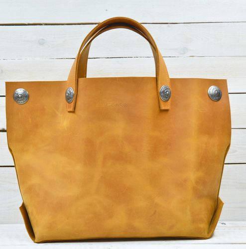 Привлекательная женская сумка-мешок из натуральной кожи GBAGS B.0004-ALI рыжий