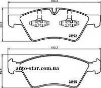 Передние тормозные колодки на Mercedes ML, GL,E-class (пр-во TOMEX 14-57)