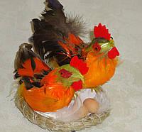 """Сувенир пасхальный """"Куриное семейство в гнезде"""""""