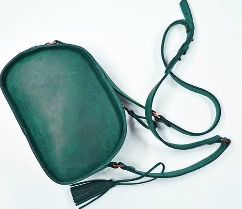 Стильная женская сумка из натуральной кожи GBAGS B.0006-СН изумрудный