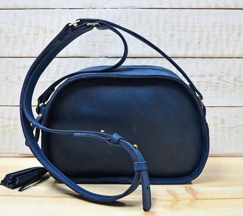 Прекрасная женская сумка из натуральной кожи GBAGS B.0006-СН синий