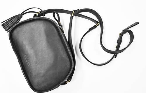 Миниатюрная женская сумка из натуральной кожи GBAGS B.0006-СН серый