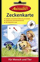 Aeroxon Zeckenkarte - Средство для защиты людей и животных от клещей, 1 шт