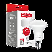 Светодиодная LED лампа MAXUS рефлекторная R50  5W яркий свет  Е14