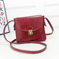 Маленькая женская сумка Портфель красная