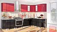 Кухня угловая КХ-166 со столешницей серии Хай-Тек