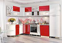 Кухня угловая КХ-169 со столешницей серии Хай-Тек