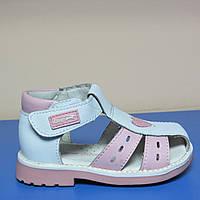 Ортопедические кожаные босоножки Lapsi для девочек 27р(полномер)