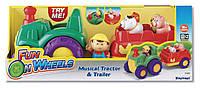 Трактор с прицепом, музыкальный, зверюшки keenway