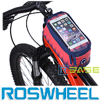Велосипедная сумка на раму для смартфона Roswheel M Toss Red