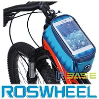 Велосипедная сумка на раму для смартфона Roswheel M Toss Blue